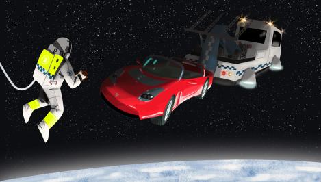 el Tesla del espacio