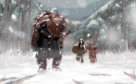 exploradores en la nieve