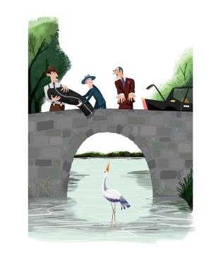 gangsters en el puente