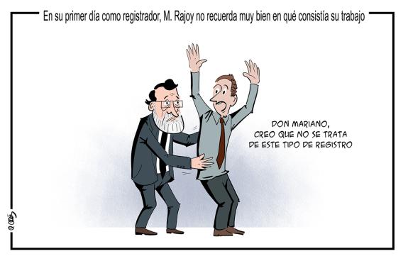 Rajoy registrador